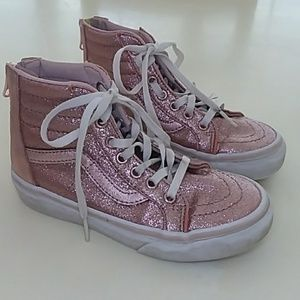 Vans Wade pink glitter Sparkle high top sneakers